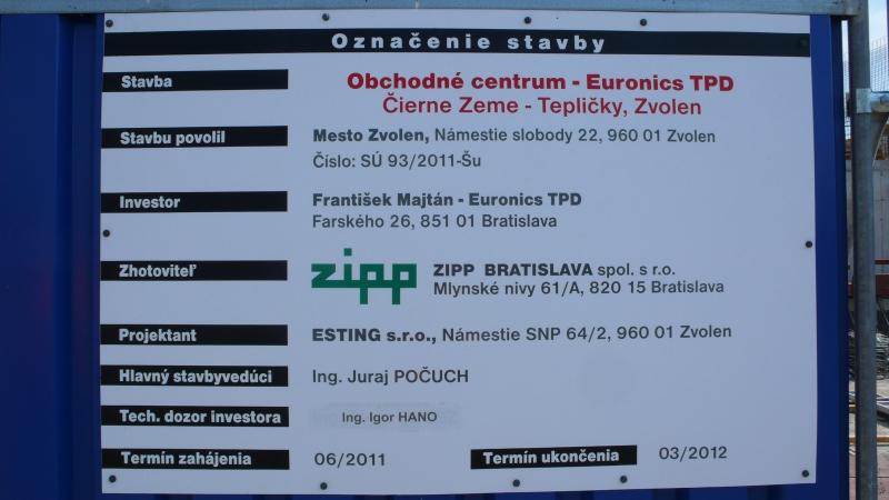 daecdccb3456a Obchodné centrum EURONICS T P D ZVOLEN | A.C.T. Nitra